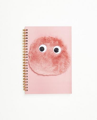 Schrift met fluffy monster